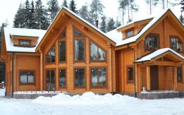 изготовление домов из клеённого бруса