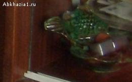 Пепельница-ваза рыбка на ракушке зеленая